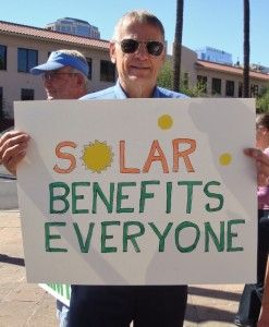 Rally Against Arizona Solar Tax